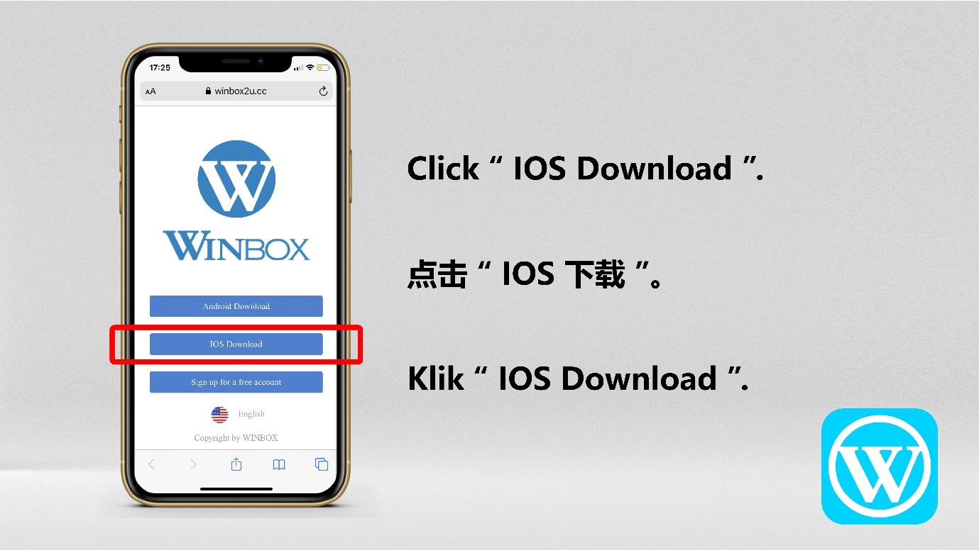 How to download Winbox Malaysia on IOS